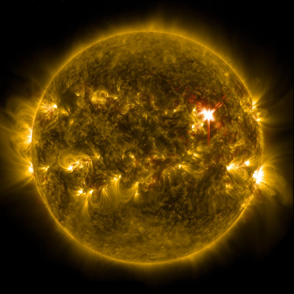 Depiction of sun's surface